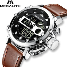MEGALITH Quartz-Watch Chronograph Sport-Clock Waterproof Luminous Multifunction Wholesale-Price