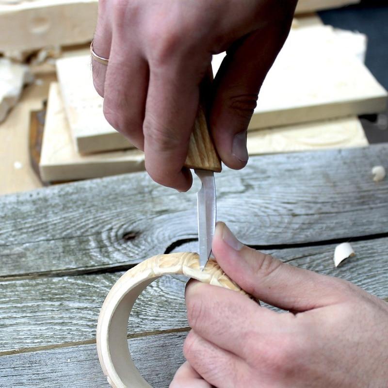 5pcs/set Wood Carving Hand Chisel Tool Set Carpenters Woodworking Carving Chisel Woodcarving Cutter Chip Carving DIY Hand Tools