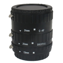 Brand New Auto Macro Extension Tube Set for Canon DSLR, Material: Synthetic Plastic Free Shipping with Tracking Number