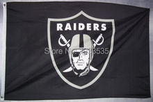Team Logo Oakland Raiders Flag Large Outdoor Flag 3' x 5' Banner brass metal holes Flag