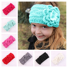 New Kids Turban Warm Headband Crochet Knitted Hairband Headwrap Hair Bands for Girls Headwear Hair Bands Accessories