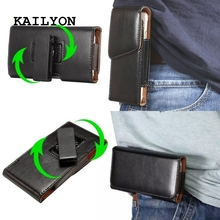 360 Rotation Belt Clip Holster PU Leather Pouch Case Cover for Oukitel K10000 5.5 inch Pouch bags Cell Phone Accessories