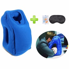 Hot-sale Newest Designed Travel Pillow Neck Pillow For Airplanes, Car Sleeping/Train/Office Nap -- Inflatable Travel Pillow