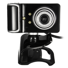HD Web Camera Clip-on 360 Degree Rotation USB Webcam 3 LED with Microphone MIC Webcamera Android TV PC Computer