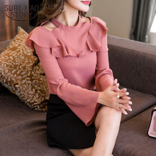 Buy new arrived 2018 spring blouse women chiffon shirt long sleeved tops fashion solid shirt slim clothing D427 30 for $12.02 in AliExpress store