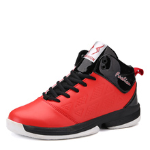 2017 Hot Sale Men Basketball Sneakers Brand Training Shoes Lace Up Mens Basketball Trainers Red/Blue High Top Basketball Shoes