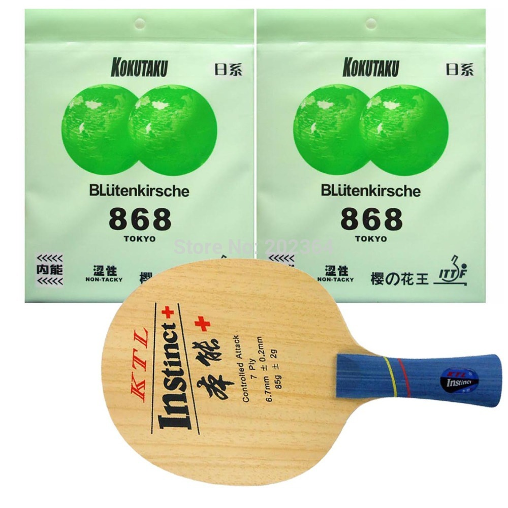 KTL instinct+ Table Tennis Blade Long Shakehand FL With Kokutaku Blutenkirsche 868 NON-TACKY Rubbers for a Racket<br><br>Aliexpress