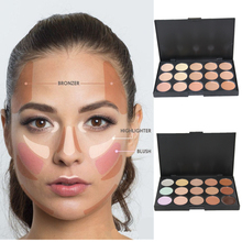 AURELIFE 32 Colors Cream Makeup Face Contour Kit Highlight Concealer Palette Bronzer with Blender Beauty Cosmetic Set