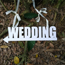 White Wedding Board Haning Direction Sign Wedding With Arrow Signpost Welcome Guest Road Guide Board Wedding Props Decoration
