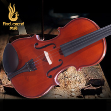 Free Shipping FineLegend 4/4 Full Size Ebony Parts Handmade Solid Maple Professional Violin with Bow, Case, Rosin LCV1114-1