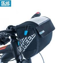 Buy ROSWHEEL Waterproof Front Bicycle Bags Bike Cycling PVC Front Basket Pannier Frame Tube Handlebar Bag install Map for $19.59 in AliExpress store