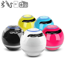 Mini Portable Bluetooth Speaker Wireless Round Ball Speaker Super Bass Sound box support Mic TF Card FM Radio LED Light