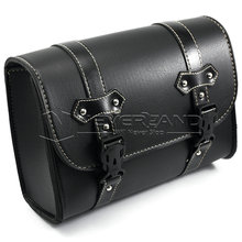 Black Motorcycle Saddle Bags PU Leather Motorbike Side Tool Pouch Tail Bag Luggage Borsello Moto Universal Freeshipping D20(China)