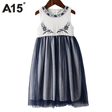 A15 Girl Dresses and Outfits Dress Baby Girl Fashion Clothes Robe Kids Dresses for Girls Birthday Clothing Brand 3 4 6 8 10 Year(China)