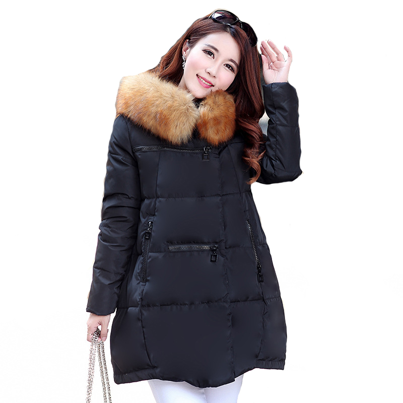 Winter Woman Long Sleeve Polyester Solid  Parka Casual A-line Zipper Fashion Parka M-XXLОдежда и ак�е��уары<br><br><br>Aliexpress