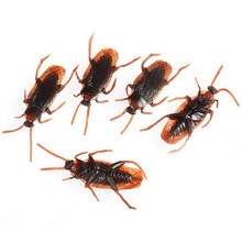 Hot Sale 10Pcs/Set Baby Kids Child Halloween Plastic Cockroaches Joke Decoration Props Rubber Toys Gift For Kids(China)