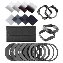 Neewer Complete ND Filter Kit for Cokin P Series:ND Filters+Adapter Rings+Square Filter Holder+Lens Hood+Filter Pouch(China)