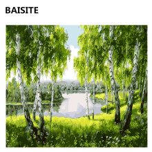 BAISITE DIY Oil Painting By Numbers Hand Painted Canvas Modern Wall Picture For Living Room Home Decor Wall Art H359
