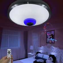 Modern Ceiling Lights RGB Bluetooth Speaker Music Lamp 2.4G RF Remote Lamparas De Techo Luminaria For Bedroom Livingroom Fixture(China (Mainland))