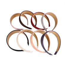 8 Colors Vintage Wide Artificial Leather Headband Hair Band Fashion Accessories