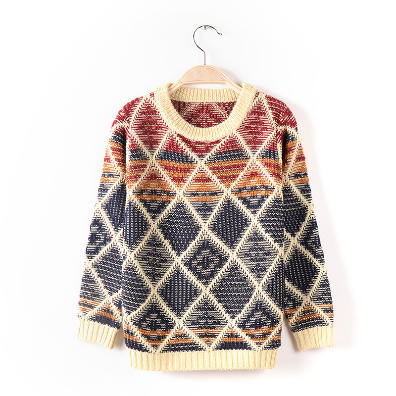 Baby Boys Casual O-Neck Striped Pattern Patchwork Colors Winter Knitting Sweaters Cotton Pullover Kids Clothes Gradient Cardigan<br><br>Aliexpress