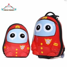 "13""16"" Cartoon red Cute Travel Trolley Case Rolling Mini Luggage bags Suitcase with Wheels for Children kids Luggage"
