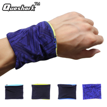 Reflective Zipper Pocket Wrist Support Wrap Straps Double Lycra Fitness Cycling Sports Wristband Volleyball Badminton Sweatband