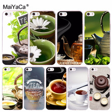 Buy MaiYaCa Natural green tea red tea teapot Painted Cell Phone Case iPhone 8 7 6 6S Plus X 10 5 5S SE 5C 4 4S Coque Shell for $1.09 in AliExpress store
