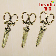 Hot Fashion 4Pcs/lot 24*59mm Charms Antique Bronze Plated Scissors Alloy Charms & Pendant Fit Jewelry Making