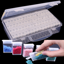 Daimond transparent plastic storage box New Diamond embroidery diamond painting tool jewelry Drill Storage Box Gift Accessory(China)