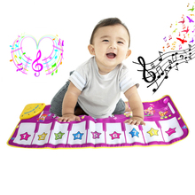 New 1Pc Hot Pink Children Baby Play Gift Touch Musical keyboard Singing Animal Carpet Mat Piano Toy