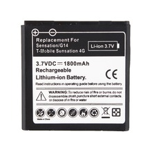 1Pc Replacement 1800mAh Battery For HTC Shooter G14 Sensation G17 Z710e EVO 3D Sensation 4G batteries(China)