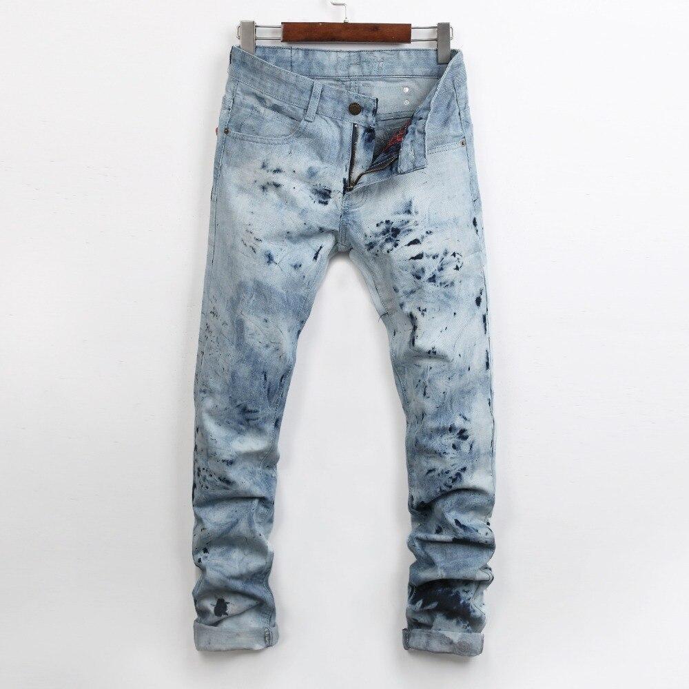 2017 new mens locomotive jeans Hot nail  fashion snow jeans Mens casual Denim Jeans Skinny Pencil Pants hiphop jeans 28-38Одежда и ак�е��уары<br><br><br>Aliexpress