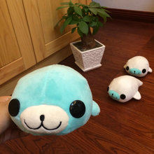 sea lion doll Christmas present Kids Toys 18*11cm Cute Car Sucker Pendant Doll Stuffed Bamboo sea lion Plush Toys