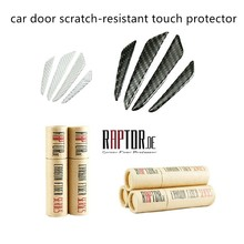 Buy 4 pieces 2 colors carbon fiber scratch-resistant car door protector door side edge protection sticker strips touch for $11.79 in AliExpress store