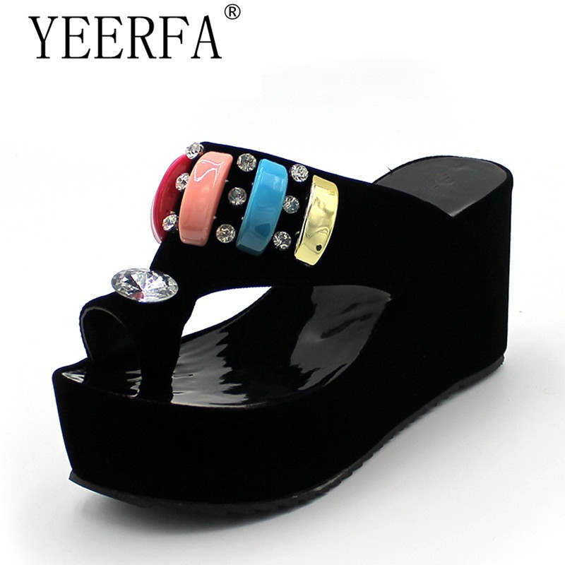 Plus size 34-43 new women sandals platform shoes open toe high quality high heels open toe solid color prom wedding shoes<br>