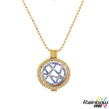 Diy Collier Femme My Coin Charm Coin Imitation Gold Full Circle Drill Border White Gold with Diamonds Pendant Necklace for Women