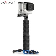 SOONSUN For GoPro Aluminum Extendable Pole Stick Telescopic Handheld Monopod+Adapter for GoPro Hero 6 5 4 3+ 3 SJ4000 Xiaomi Yi(China)