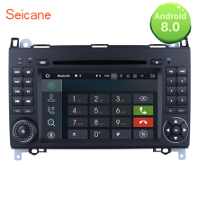 "Seicane 2Din Android 8.0 7"" GPS Navigation Car Radio Multimedia Player Mercedes Benz B Class W245 B160 B180 B200 Sprinter"