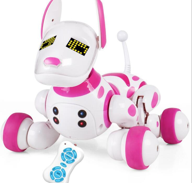 2018 New Birthday Gift RC Walking Dog 24G Wireless Remote Control Smart Electronic Pet Educational Childrens Toy Robot
