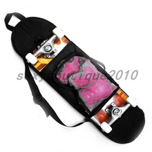 Black Outdoor Skateboard Carry Bag Longboard Deck Skate Board Backpack 81*21cm