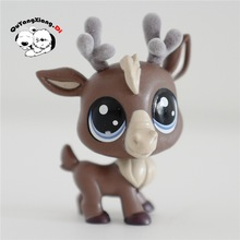 CW052 Pet Shop Animal Brown deer doll action Figure(China)