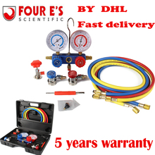 FOUR E'S SCIENTIFIC R134A HVAC A/C Refrigeration Kit AC Manifold Gauge Set Auto service  Kit diagnostic-tool