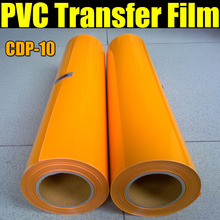 Free shipping PVC Heat Transfer Film for T-shirt & Heat Transfer Film for Textile with size:0.5x25m/Roll CDP-10 COLOR