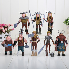 8pcs/set 10-13cm How to Train Your Dragon 2 Figurines PVC Action Figures Classic Toys Kids Gift For Boys Girls Children