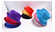 Glitter Sequin Children Hat Summer 2016 Girls/Boys Performing Jazz Hat Dance Stage Nursery Kids Cap