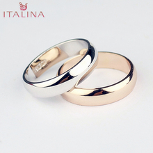 1pcs ring Italina 18K Rose Gold / platinum plated girls sliver accessories 3 -12.5 size Women's Jewellery wedding rings for men