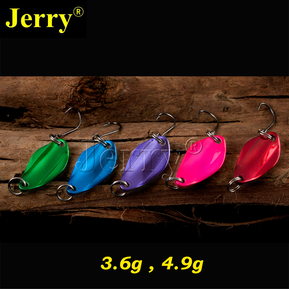 Jerry 5pcs 3.6g 4.9g wholesale fishing lures trout fishing spoons metal hardbait high quality bait<br><br>Aliexpress