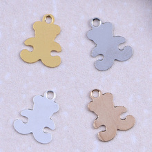 Cross DIY charms pendant teddy bear shape accessories DIY findings for jewelry making Handmade copper metal charms