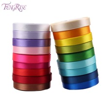 FENGRISE Wedding Decoration Ribbons 15 mm Silk Satin Ribbon Organza Baby Shower Events Supplies Kids Gifts Wrapping Birthday